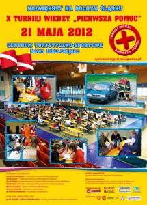 Plakat Pierwsza Pomoc X turniej